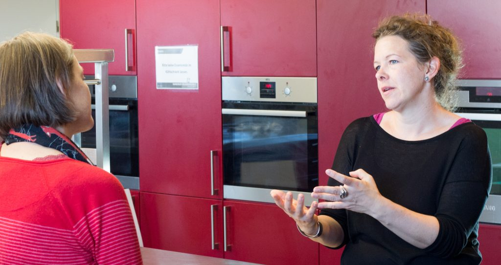 Lena Thyra Meyer im Gespräch, Foto von Jens W. Kock