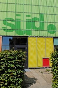 Bildungszentrum südpunkt Nürnberg, Eingang, Foto: Stadt Nürnberg